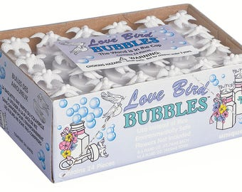 24pc Love Bird wedding bubbles, affordable wedding bubbles, wedding bubble favors, wedding bubble table scatter (#95232)