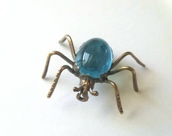 Broche en laiton Arachnid | broche araignée des années 1930 | broche araignée Vintage