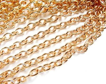 KC Gold Plated Cable Chain Unfinished - 22-25-1