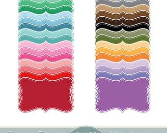 Frame Clipart Pastel Frames Clip Art Bracket Scalloped Border Label Digital Frames Scrapbooking Dotted Lines Invitations Logo Photo Doodle