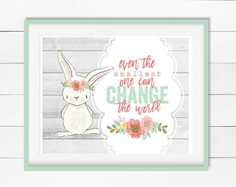 Even The Smallest One - Spring Easter Print - Digital Download