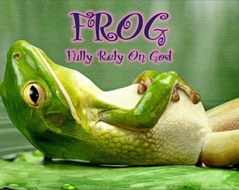 FROG Fully Rely On God Personalized Custom made Aluminum Sign