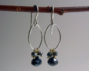 Black Spinel Branwen Earrings