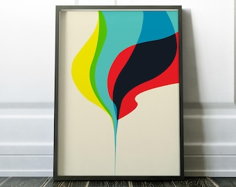 Plume - Abstract Graphic Design Print