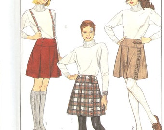 Simplicity 8745 1980's Misses'Front Wrap Skirt   ID146