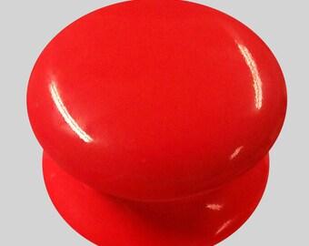 Red Ceramic Cupboard Drawer Knob Cabinet Pull Knob