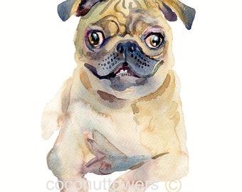Custom Pet Portrait - Original Art -11x14in - Watercolor Painting - Art - Dogs