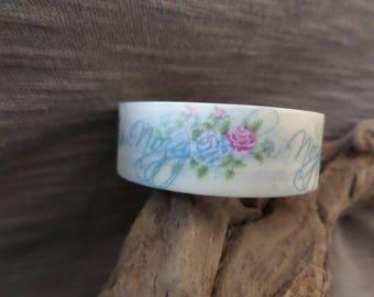 Masking tape flower pink / blue