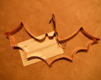 large bat shaped solid copper cookie cutter