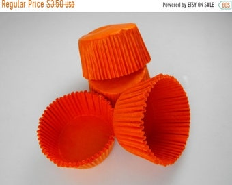 Mothers Day Sale 50 Pc Pretty Orange Cupcake Liners 2X1.25 Inch Size Perfect for Parties