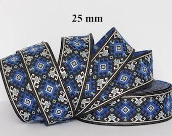 Medieval/oriental braid embroidered jacquard width 25 mm
