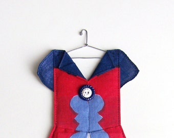 Hanky Dress for 4th of July Decor