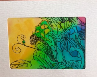 Blank Note Card Doodlebug