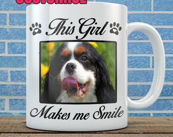 Customized Dog Photo Mug - Add your photo, customize wording. (15oz)