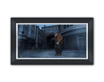 Old man - Surreal Conceptual Fantasy Sci-Fi 3D Digital Poster, or Fine Art Print