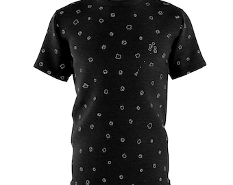 Mens Asteroids Minimalist All-Over T-Shirt