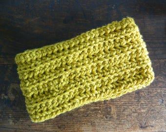 Hand Made Ribbed Infinity Scarf - Hand Made Chunky Crochet Scarf - Oversized Chunky Wool Scarf