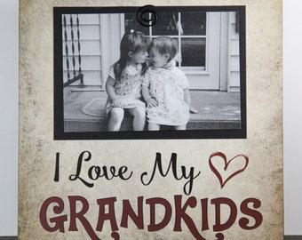 Grandkids picture frame, Grandma Grandpa Primitive Sign, Photo frames, Grandparent gift, Grandchildren Inspirational frames, Mindy's Gazebo