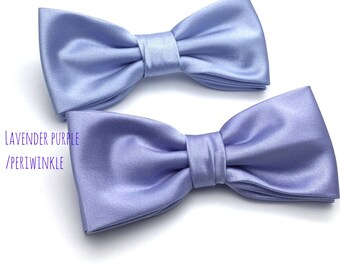 Solid Lavender Bow tie, Periwinkle Bow Tie, Lavender Blue/Purple Bowtie, Wedding Groom Groomsmen Boy Kid Baby Bow Tie, Mens Bow tie
