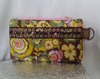 Watercolor Floral Zippie Pouch