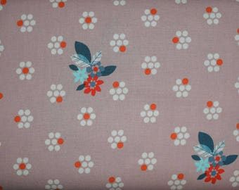 SALE Fruit Dots Fabric in Mauve from Melody Miller for Cotton & Steel