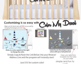 Ocean Murals, Marine Decals, Wall Decor Ocean, Kids Wall Decals, MINI DECAL (Stock) MNAUT