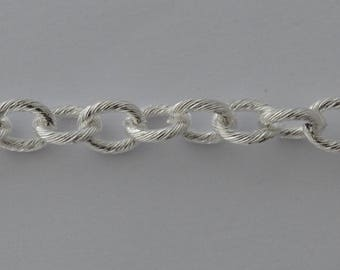 20cm silver chain link color 11x9mm