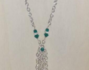 Swarovski Crystal Tassle Necklace