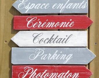 Flèches en bois, décoration murale personnalisable, palette, flèche mariage, décoration mariage, vintage