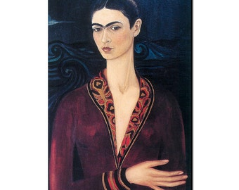 Frida Kahlo Elegant Red Dress Refrigerator Magnet