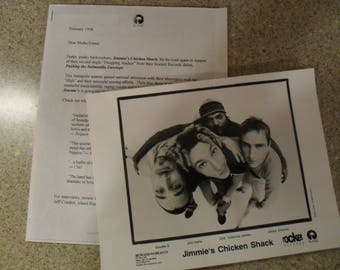 Jimmie's Chicken Shack Press Release and 8x10 glossy promo photo