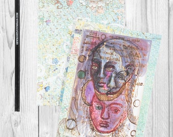 Writing journal, notebook, bullet journal, diary, sketchbook, blank - A Page from Her Life (Frida) - Journal / Sketchbook