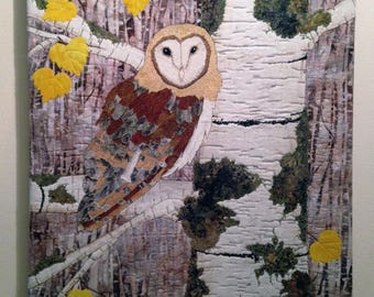 Barn Owl In The Birch