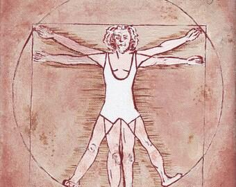 Leotardo da Vinci // Leonardo da Vinci pun art - art print