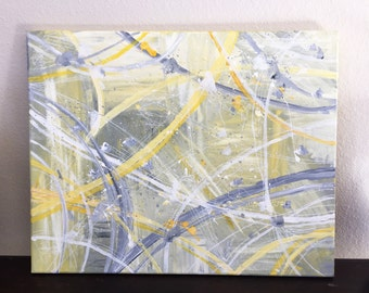 Abstract Wall Art (Yellow & Gray)