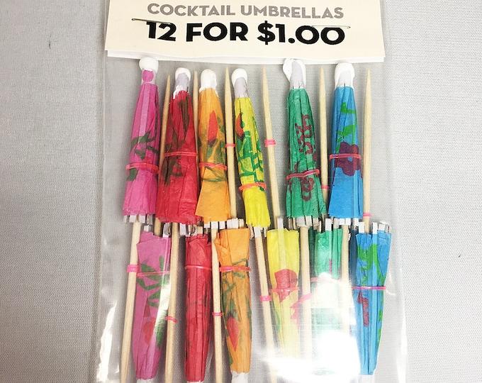 12 Cocktail Umbrellas
