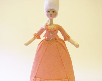Auf Bestellung gemacht-gesponnen Baumwolle Marie Antoinette Christmas Ornament