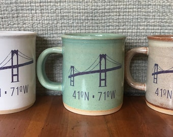 Newport RI Bridge Handmade Mug