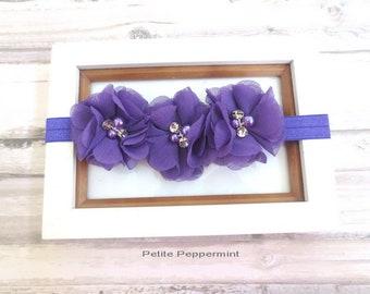 Baby Headband, baby girl headband, toddler headband,girl headband,purple baby headband,purple baby head band,purple toddler headband