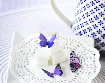Itsy Bitsy Edible Butterflies - Purple Assorted Butterflies set of 48 for Cakes and Cupcakes
