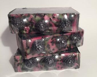 Blackberry Sage Soap, Cold Process Soap, Homemade Soap, Handmade Soap, Vegan Soap