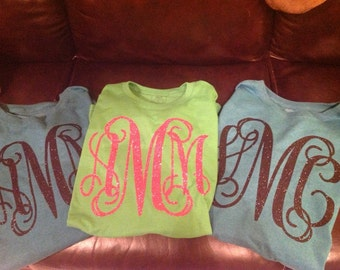 Long Sleeve Over Sized Monogram Shirt.