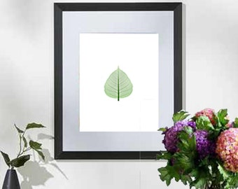 Printable art Digital Prints Wall art home decor Green leaf printable art, printable prints