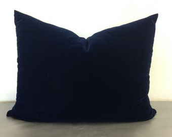 King size Navy Blue velvet bed pillow cover- Holiday Decor/Pillows/Fall Fashion/Trending Items/Home Accessories/Home and Garden/For Him/