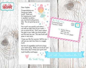 INSTANT DOWNLOAD | EDITABLE | Tooth Fairy Miniature Letter | Tooth Fairy Certificate | Tooth Fairy Note | Tooth Fairy Printable Tooth Chart