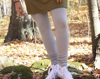 bamboo french terry leggings / winter tights / made to order / by replicca / size S to XL / your choice of colour