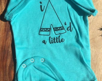 Funny Baby Bodysuit, I TeePee'd a little™, Snapsuit, Baby Boy, Baby Girl, Cute Baby One-piece, Baby Shower, Baby Gift