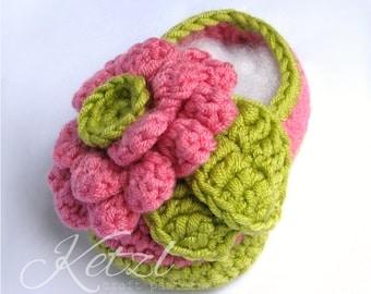 Crochet Pattern Baby Shoes crochet Booty pattern Flower Booties Crochet Baby Patterns