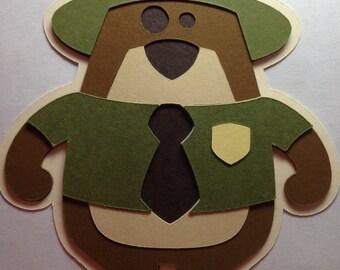 Park Ranger Bear Die Cut