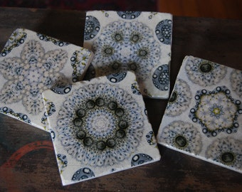 In The Wind stone coaster set of four